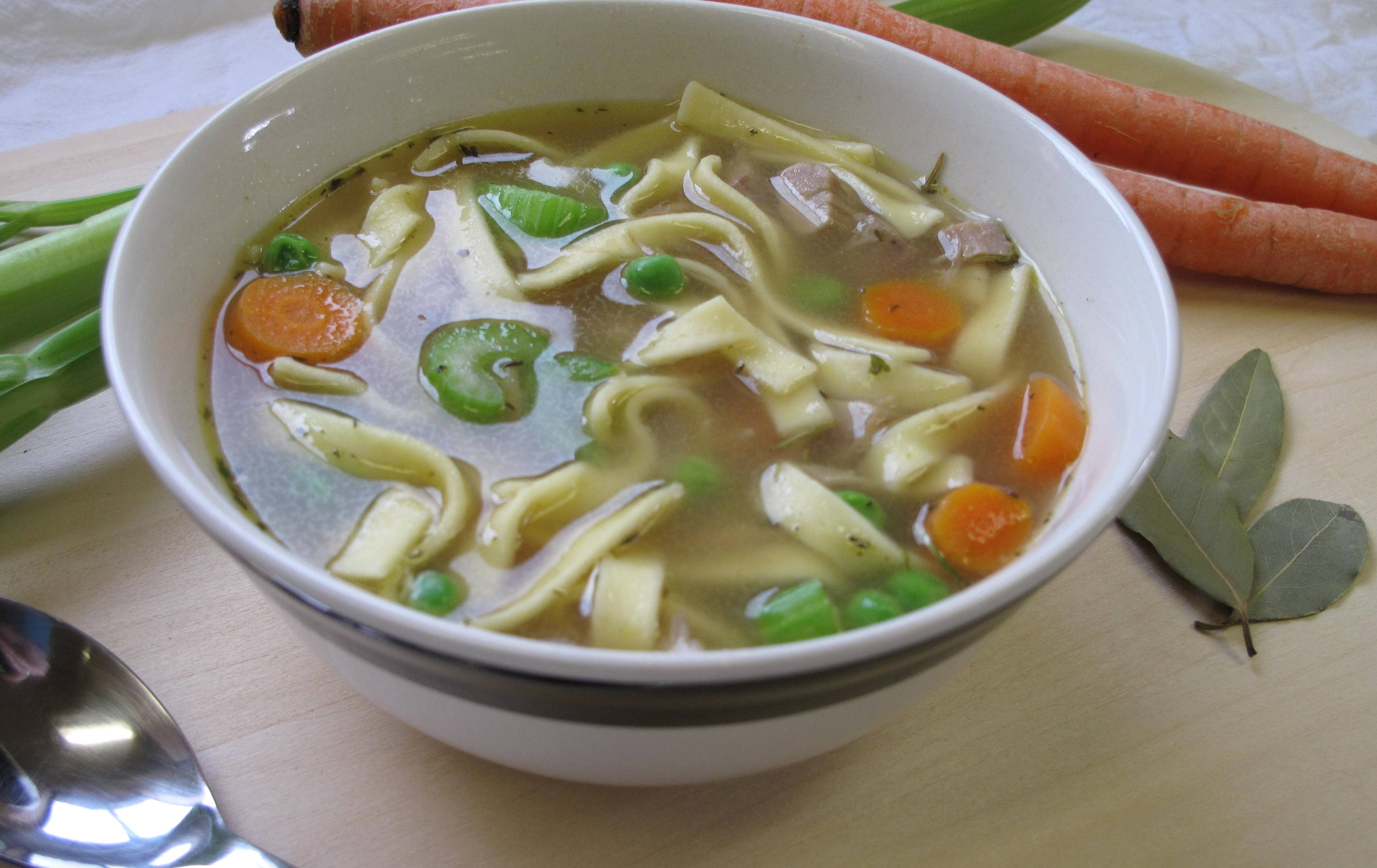Country Turkey Noodle Soup - Country Pasta