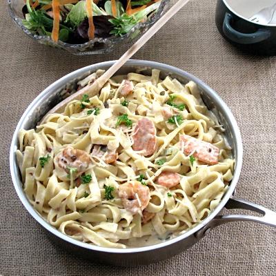 Cory's Country Pasta Shrimp Alfredo Fettuccine