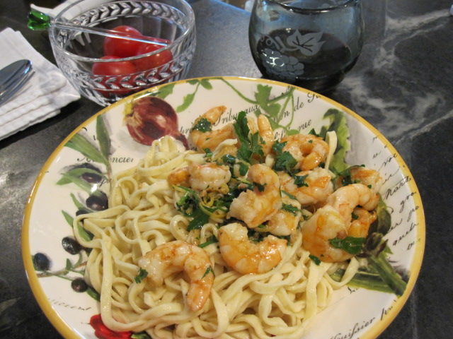 Shrimp Scampi On Country Pasta Country Pasta