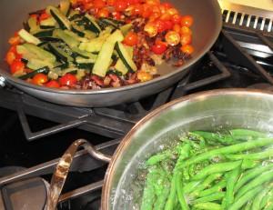 vegetable saute pasta