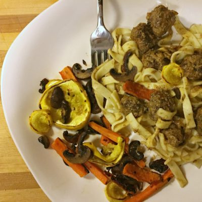 Swedish Meatballs over Country Pasta