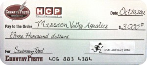 LL 2012 Donation Check