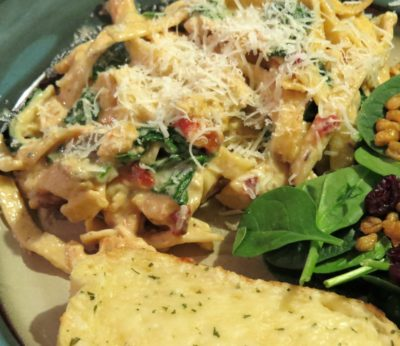 Country Chicken Mushroom and Tomato Florentine