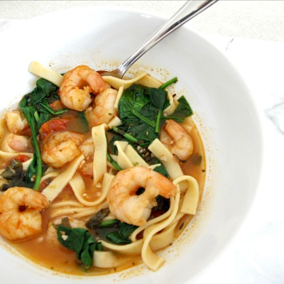 Insta - Country Shrimp and Pasta Soup