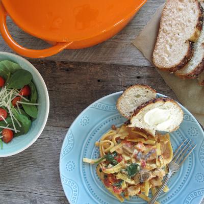 Easy Chicken Florentine with pasta Recipe